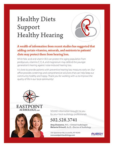 Healthy Diets Support Healthy Hearing - Newsletter