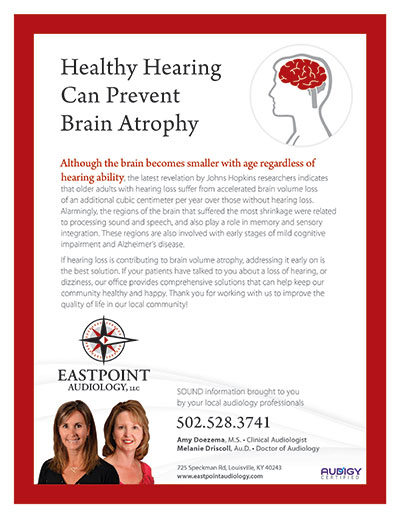 Healthy Hearing Can Prevent Brain Atrophy - Newsletter