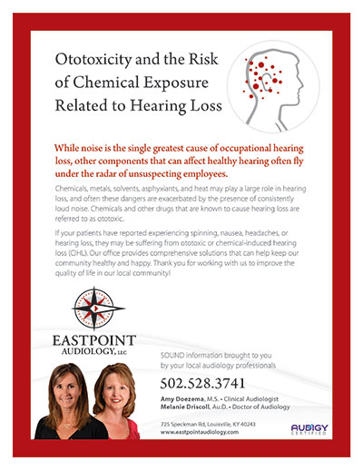 Ototoxicity and the Risk of Chemical Exposure Related to Hearing Loss - Newsletter