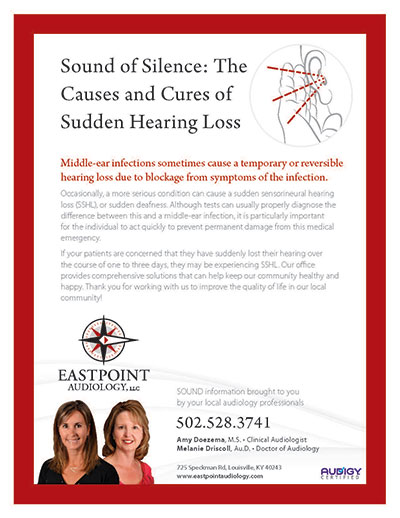 Sound of Silence- The Causes and Cures of Sudden Hearing Loss - Newsletter